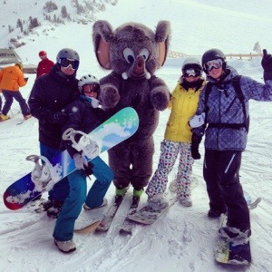 Hanging out with Woolly at Mammoth Mountain over New Year's.