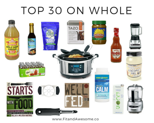 top 30 essentials on whole 30