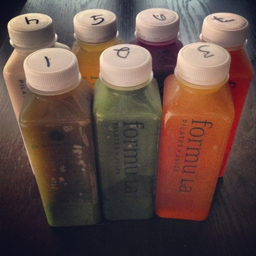 Day One of my Three Day Juice Cleanse from Formula Pilates + Juice in Manhattan Beach