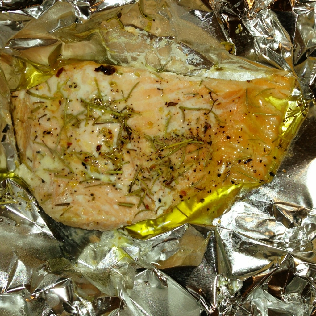 Baked Salmon with Ghee