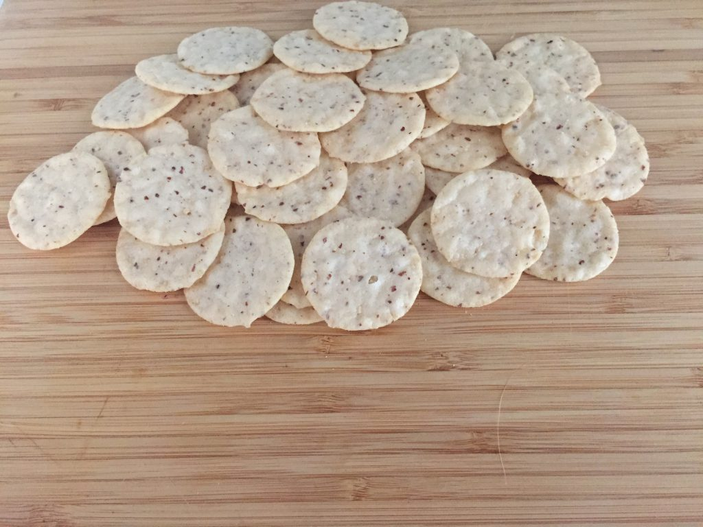 Gluten free crackers and cheese.