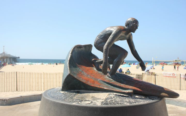 Hermosa Beach Surfer Statue