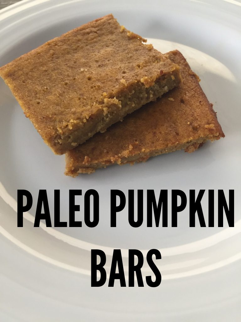 paleo pumpkin bars recipe
