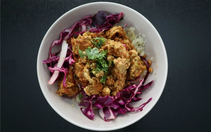 spicy curry turkey bowl